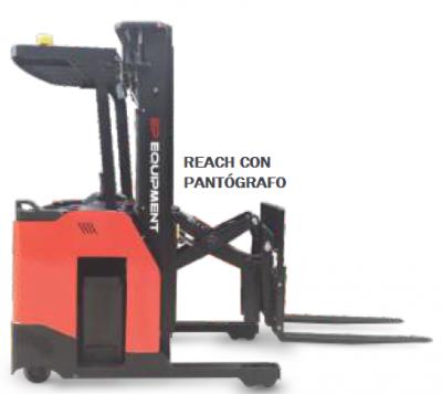 Apilador REACH Liviano con Pantógrafo CQD15SS